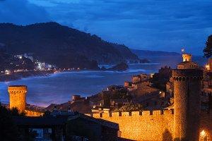 Town of Tossa de Mar by Night