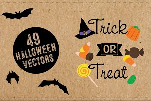 49 Halloween Vector Illustrations