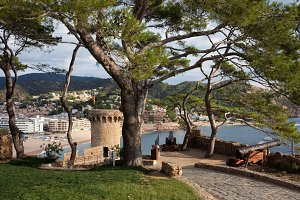 Tossa de Mar Town on Costa Brava
