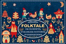 FOLKTALE. Vector Set of Illustration by  in Illustrations