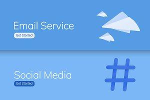 Social media application UI vectors