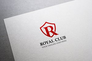 Royal Club Letter R Logo