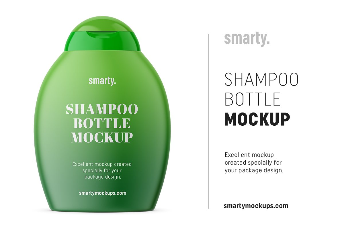 Shampoo bottle mockup