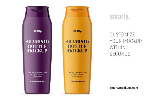 Shampoo bottle mockup in Product Mockups - product preview 2