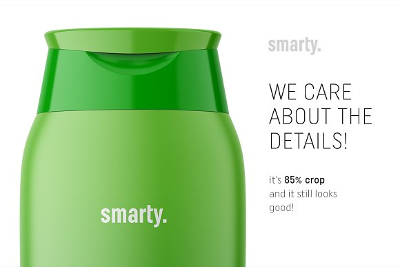 Shampoo bottle mockup in Product Mockups - product preview 3