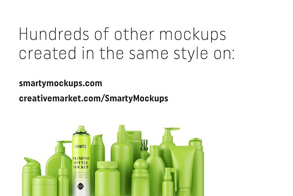 Shampoo bottle mockup in Product Mockups - product preview 4