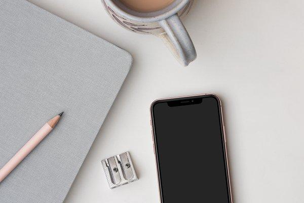 Desktop Flat Flay With iPhone