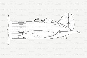 ♡ vector outline airplane