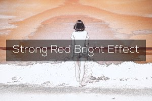 Strong Red Bright Effect