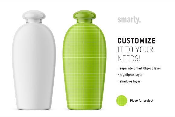 Hygiene bottle mockup in Product Mockups - product preview 1