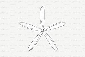 ♡ vector outline propeller airscrew