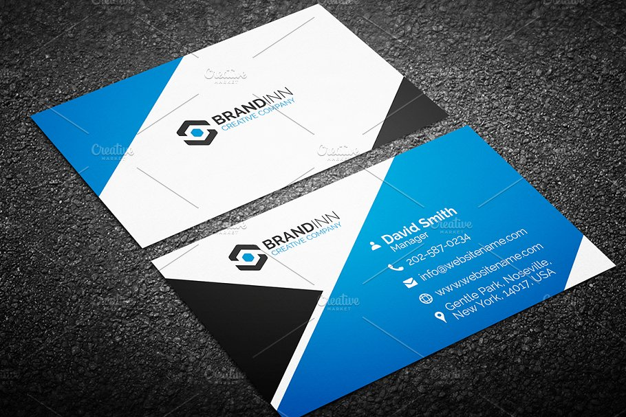 4 blue business cards bundle 3 business card templates previous cheaphphosting Gallery