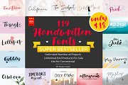119 Handwritten Fonts