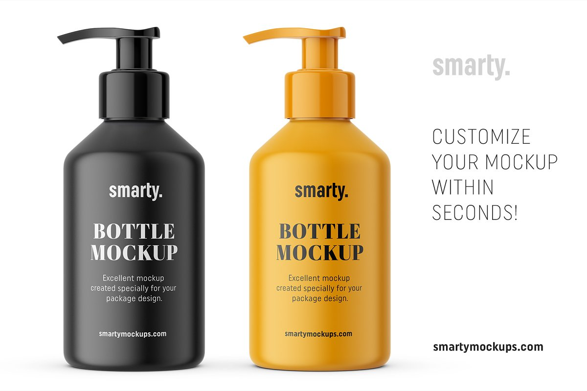 Pharmacy pump bottle mockup in Product Mockups - product preview 2