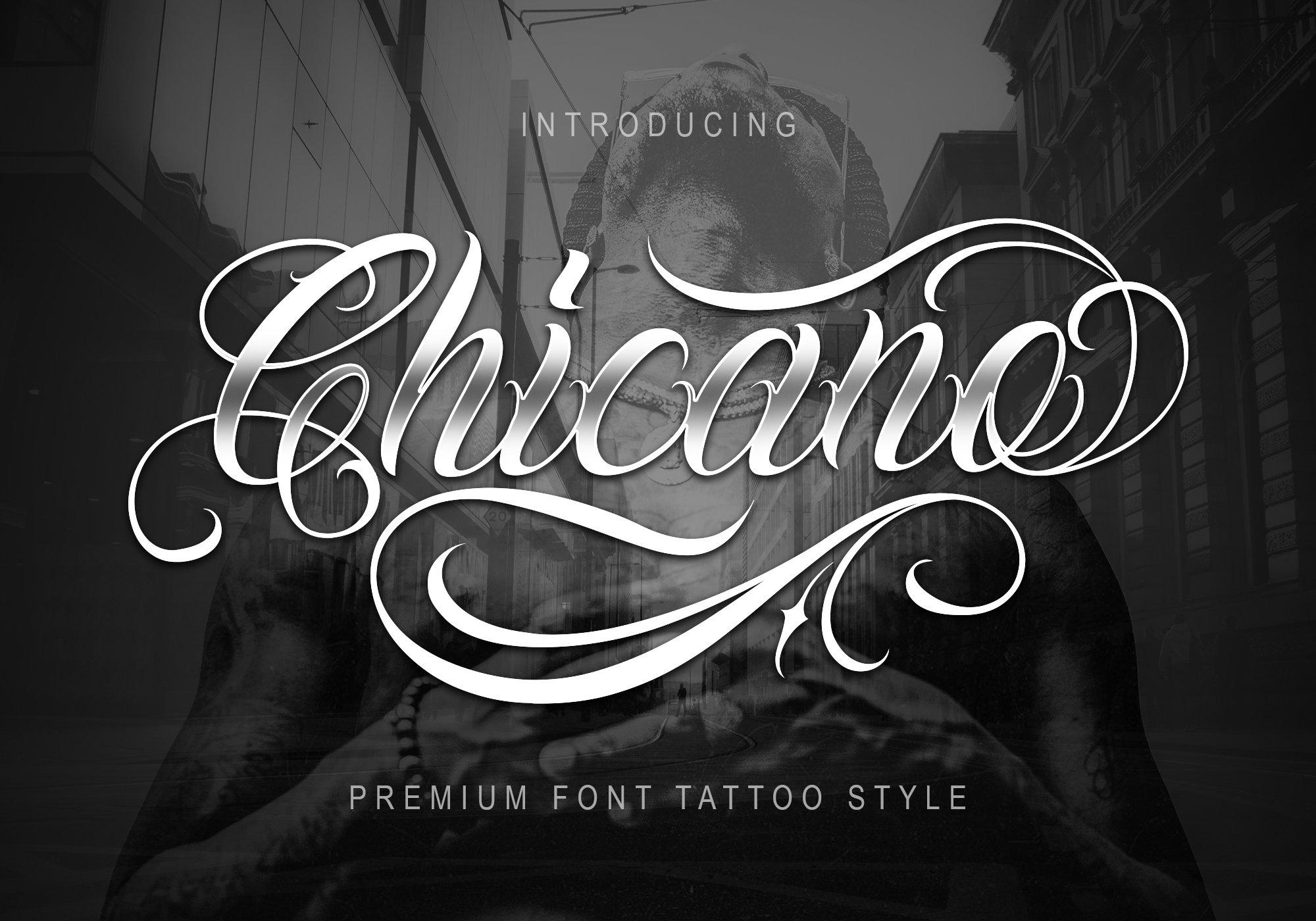 Chicano Font Tattoo Style Stunning Script Fonts Creative Market