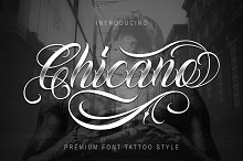 Chicano Font | Tattoo Style by  in Script Fonts