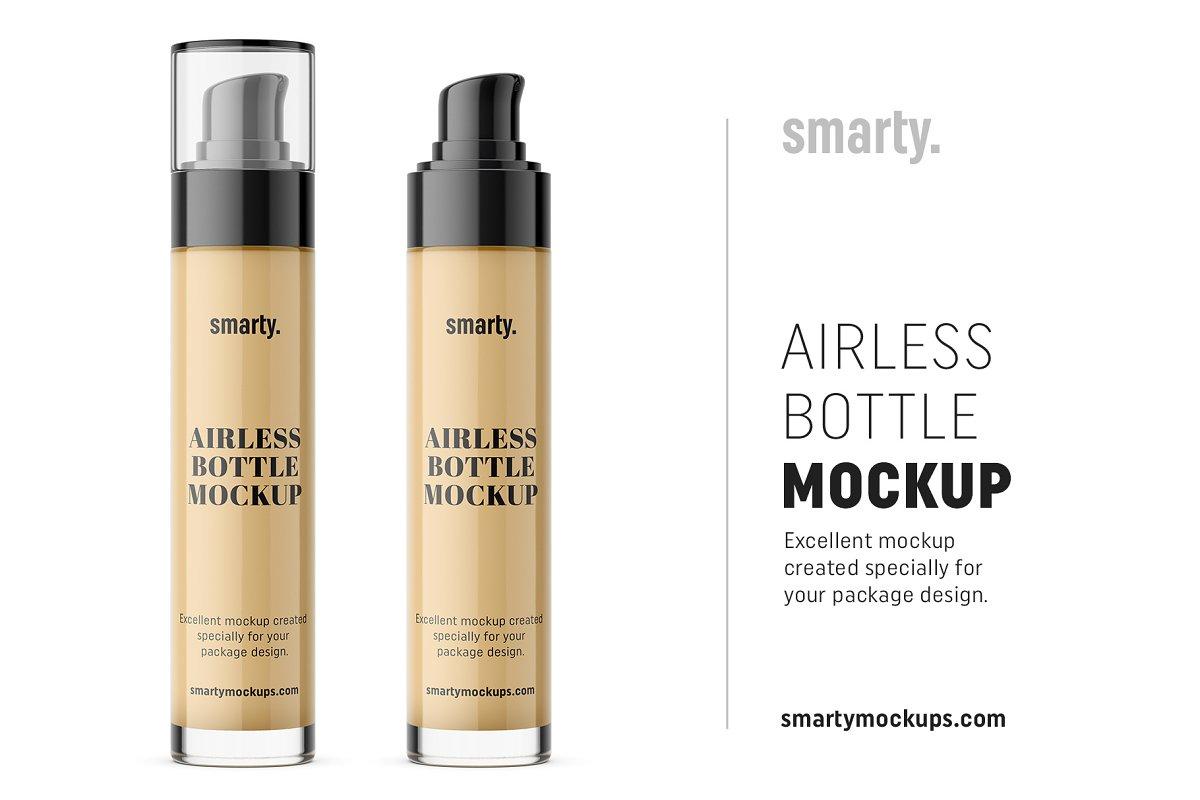 Glass airless bottle mockup