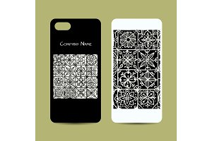 Mobile phone cover design, ethnic