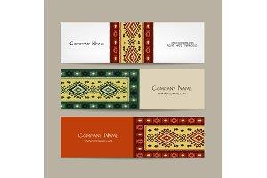 Banners design, folk ornament