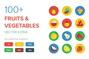 100+ Fruit and Vegetable Vector Icon