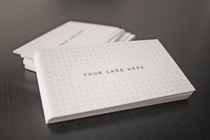 5 Business Card Mock-ups