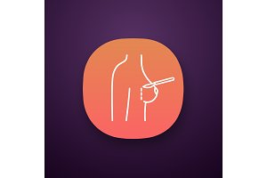Breast augmentation incision icon