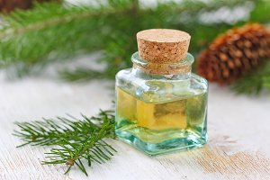 Essential aroma oil of needle smell