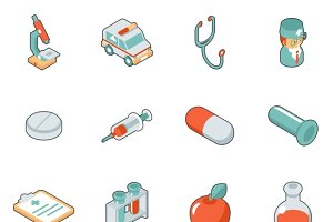 Medicine and health care 3d icons