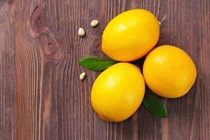 Fresh lemons on the table