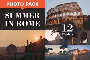 SUMMER IN ROME (12 Premium Photos)