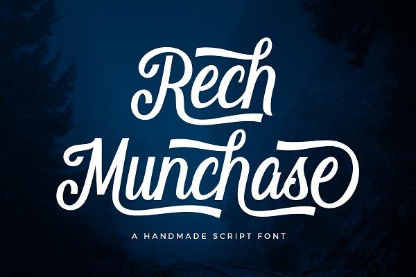 Rech Munchase Font