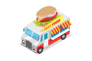 Fast Food Trolley Isometric