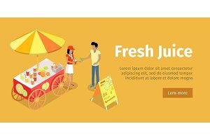 Fresh Juice Conceptual Isometric