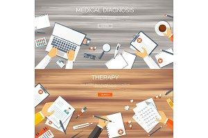Vector illustration. Flat medical