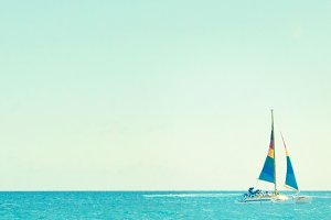 Colorful Sail Boat Photo