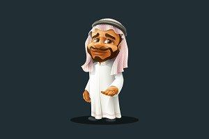 Arabian Man - Cartoon Character
