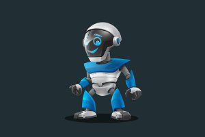 Robot - Vector Cartoon Character