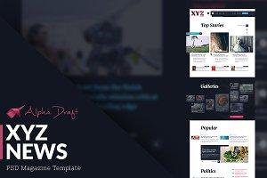XYZ News - Magazine Template