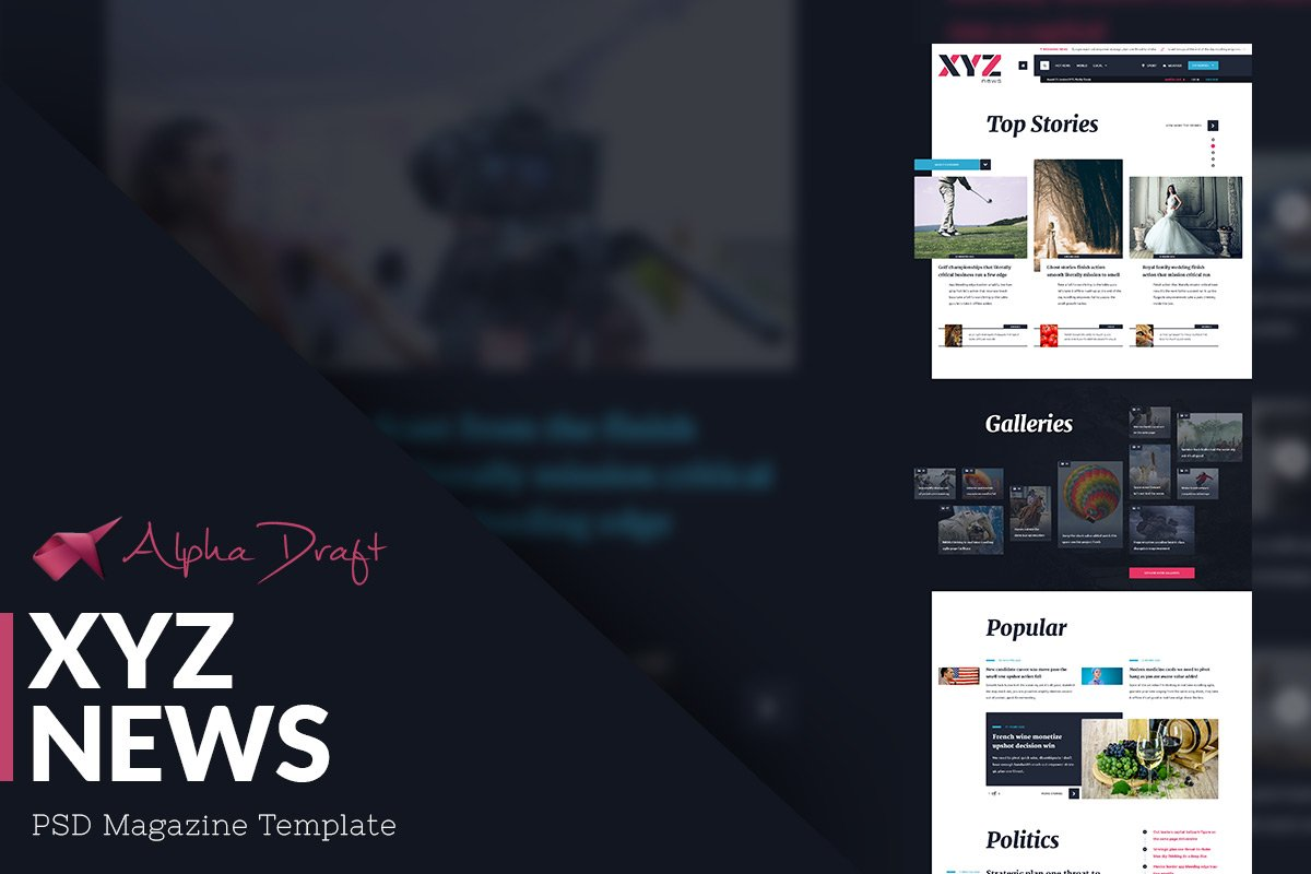 XYZ News - Magazine Template