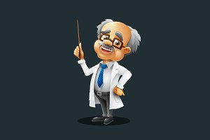 Professor - Vector Cartoon Character