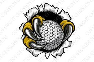 Golf Ball Eagle Claw Talons Ripping