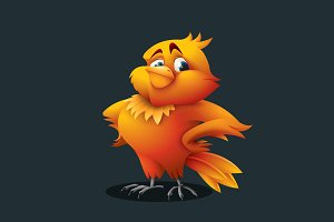 Bird - Vector Cartoon Character