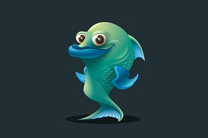 Fish - Vector Cartoon Character