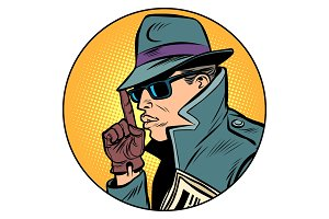 spy secret agent finger gun gesture