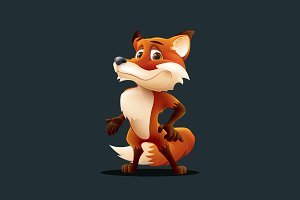 Fox - Vector Cartoon Character
