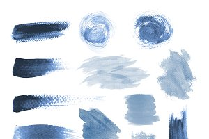 Blue grunge brushstroke design