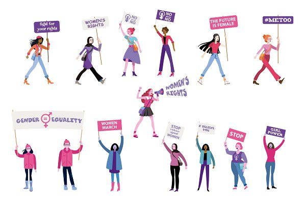 Illustrations: ÁRTICA - Fight for women's rights collection