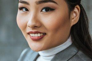 portrait of beautiful young kazakh w