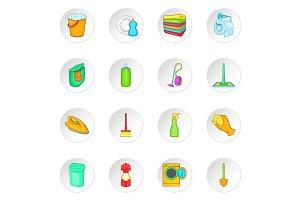Household elements icons set