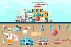 Medical Hospital Ambulance Icons